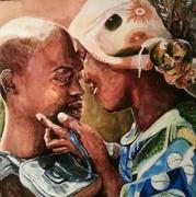 afrique,peinture,acrylique,portrait,nina parra,marlon,castillon