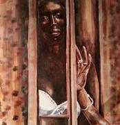 Afrique,acrylique,portrait,nina parra,castillon toulon,Marlon