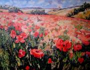 huile,acrylique,peinture,nina parra,castillon toulon,Marlon,paysage,fleurs,coquelicots